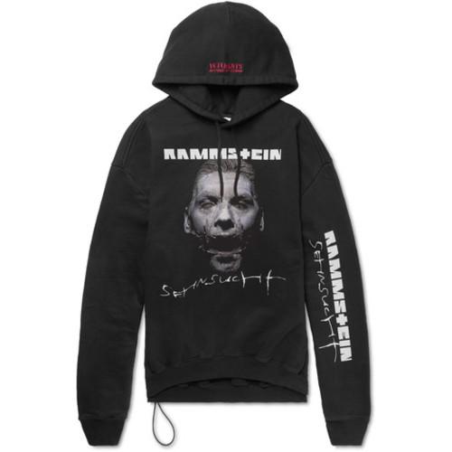 Vetements - + Rammstein Oversized Printed Cotton-Blend Jersey Hoodie