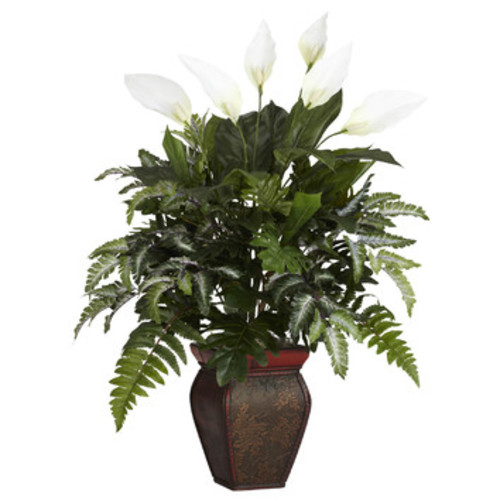 Mixed Greens Desk Top Plant in Decorative Vase