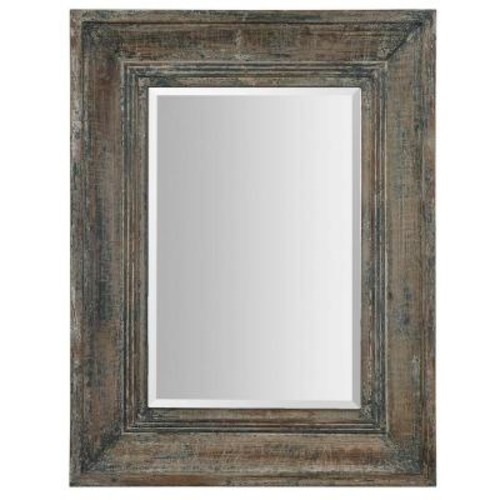 Global Direct 34 in. x 27 in. Blue/Green Rectangle Framed Mirror