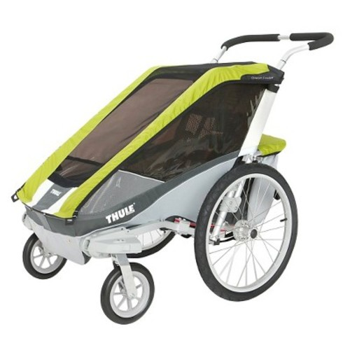 Thule Chariot Cougar 1 Multi-Sport Child Carrier with Strolling Kit, Avocado