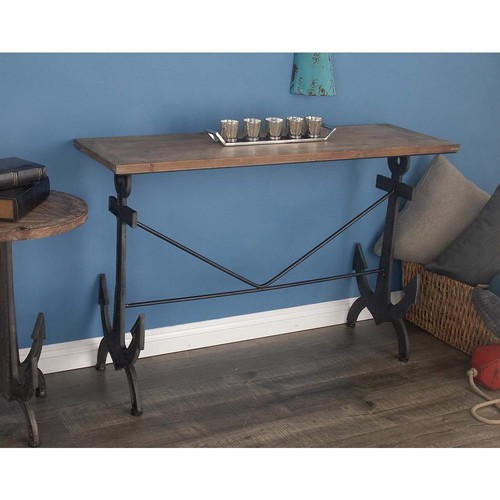AMERICAN HOME Natural Brown Anchor Console Table