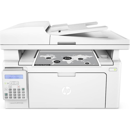HP - Refurbished LaserJet Pro MFP M130fn Black-and-White All-In-One Laser Printer