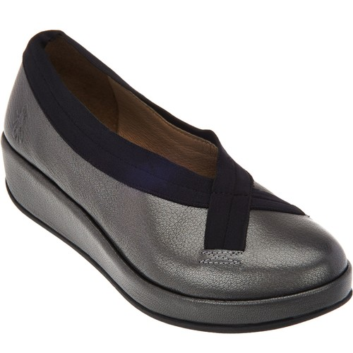 FLY London Leather Slip-on Shoes - Bobi