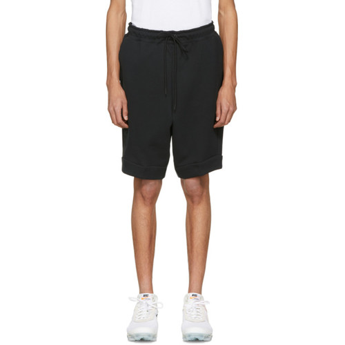 Black Tech Fleece Shorts