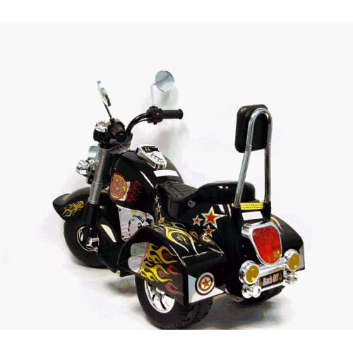 3 Wheel Chopper Trike Motorcycle for Kids, Battery Powered Ride On Toy by Lil' Rider  Ride on Toys for Boys and Girls, Toddler and Up - Black [Black]
