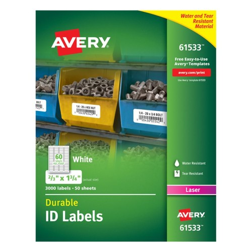 Avery Permanent Durable ID Labels With TrueBlock Technology, 2/3