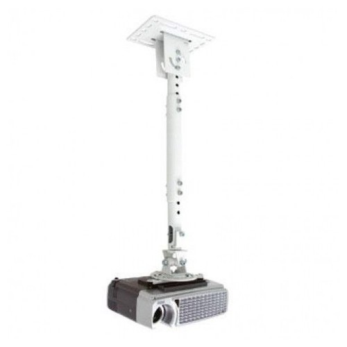 Atdec TH-WH-PJ-CM Height Adjustable Ceiling Projector Mount for Displays up to 33-Pound, White