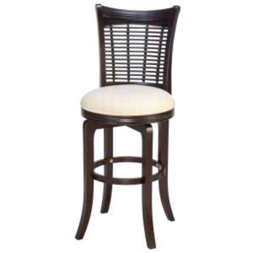 Hillsdale Furniture Bayberry 30 in. Dark Cherry Swivel Cushioned Bar Stool