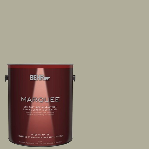 BEHR MARQUEE 1 gal. #MQ6-27 Sage Wisdom Matte One-Coat Hide Interior Paint and Primer in One