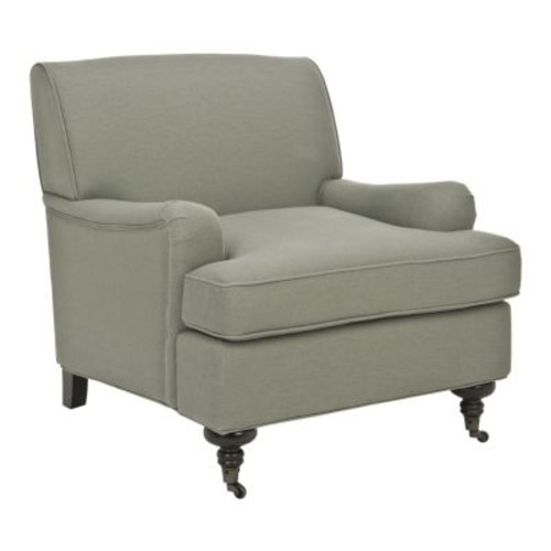 Safavieh Chloe Casual Sea Mist Blue Linen Accent Chair
