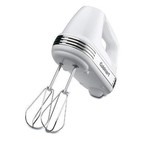 Cuisinart HM-70 Power Advantage 7-Speed Hand Mixer, Stainless and White [Silver]
