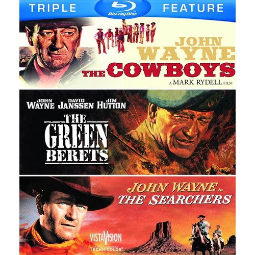 The Cowboys/The Green Berets/The Searchers [3 Discs] [Blu-ray]