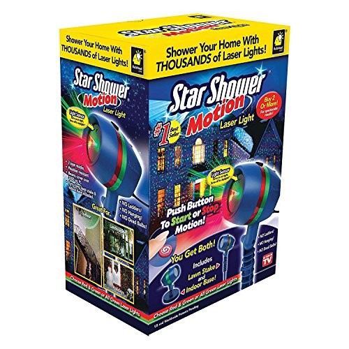 As Seen On TV - Star Shower Motion Laser Light ---- Shower Your Home With Thjousands of Laser Lights