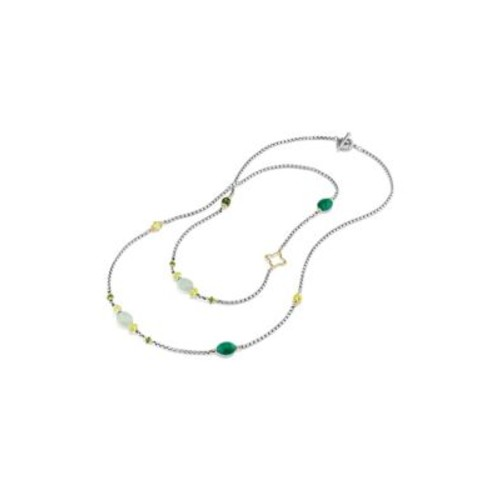 Bead & Chain Long Necklace