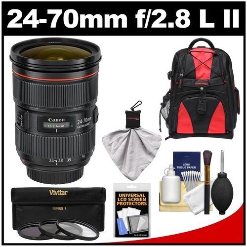 Canon - Bundle EF 24-70mm f/2.8 L II USM Zoom Lens