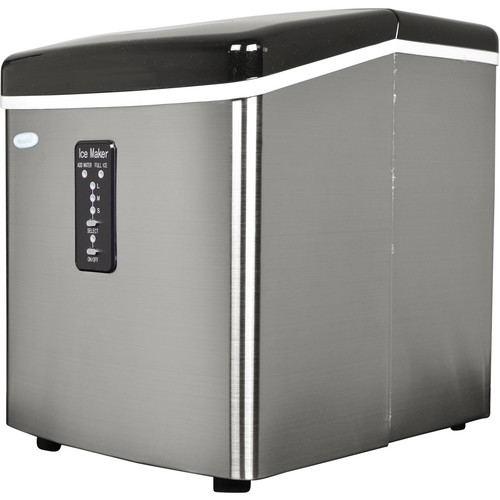 Air 28-lb. Portable Ice Maker - Stainless Silver