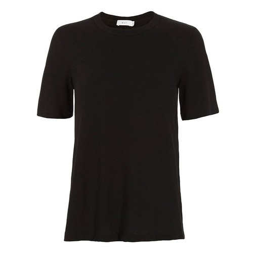 A.L.C. Elena Black Ruched Back Tee
