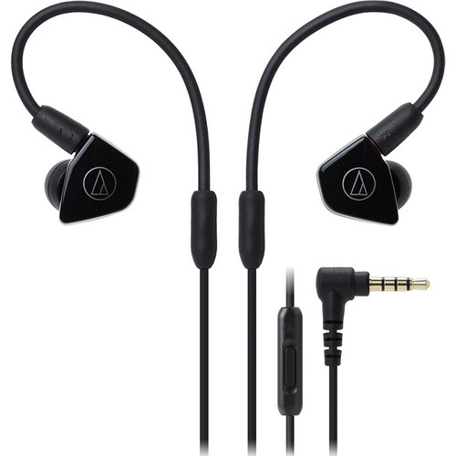 Audio-Technica In-Ear Headphones with In-line Mic & Control - Black