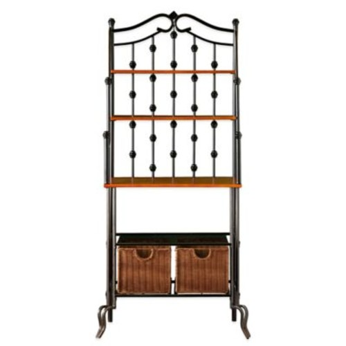 Southern Enterprises Carlsbad Baker's Rack in Oak