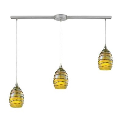 Bloomsbury Market Angelika 3-Light Kitchen Island Pendant; Rhubarb