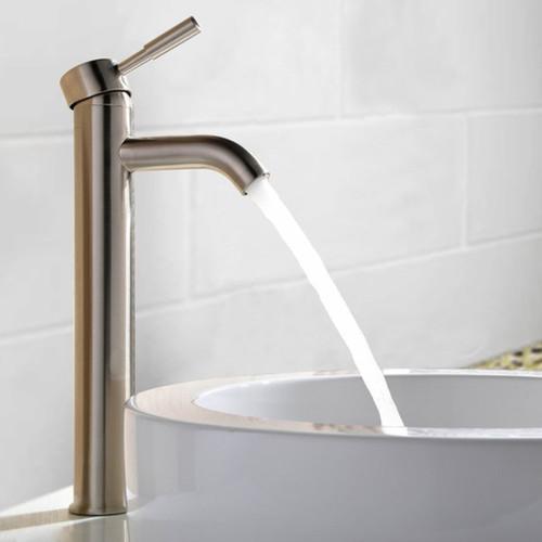 MTD Vanities Haifa Brushed Polished Nickel and Chrome Brass 12-inch 1-hole 1-handle Bathroom Faucet [option : Nickel]