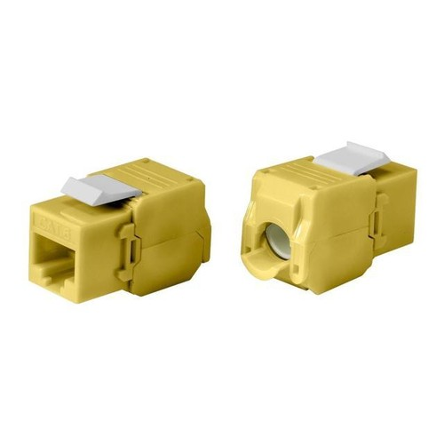 Monoprice Cat6 RJ-45 Toolless 180-Degree Keystone, Yellow