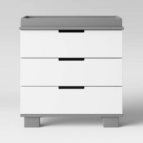 Babyletto Modo 3 Drawer Changer Dresser - Grey/White