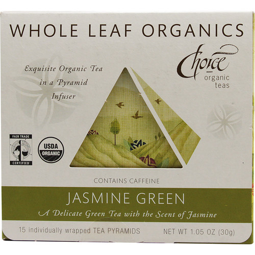 Choice Organic Teas Whole Leaf Organics Tea Jasmine Green -- 15 Tea Bags