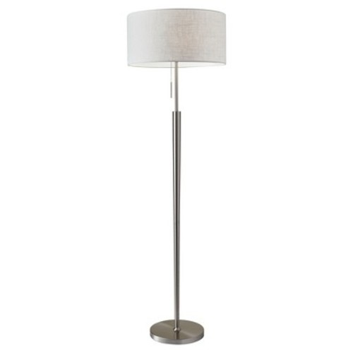 Adesso Hayworth 3457 Floor Lamp - Satin Steel