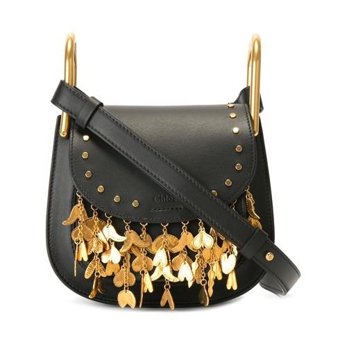 CHLOÉ Mini 'Hudson' Fringed Shoulder Bag