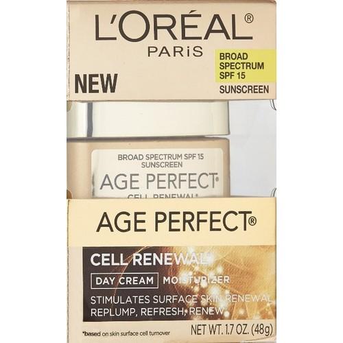 L'Oreal Age Perfect Cell Renewal Day Cream, SPF 15, SPF-10, 3oz