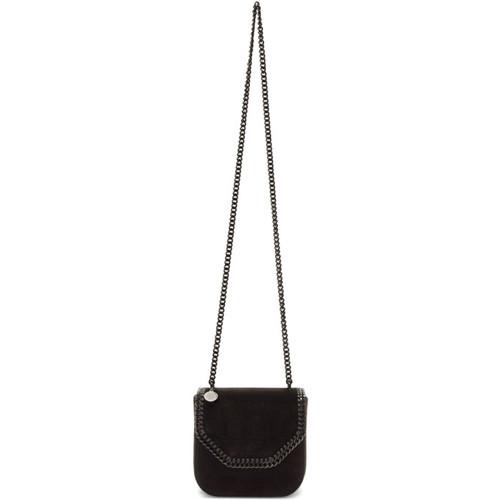 Black Mini Velvet Falabella Box Bag