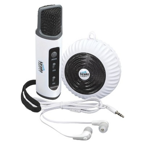 KARAOKE NIGHT 97092812M Bluetooth Karaoke Smart Microphone with Speaker and Earbuds