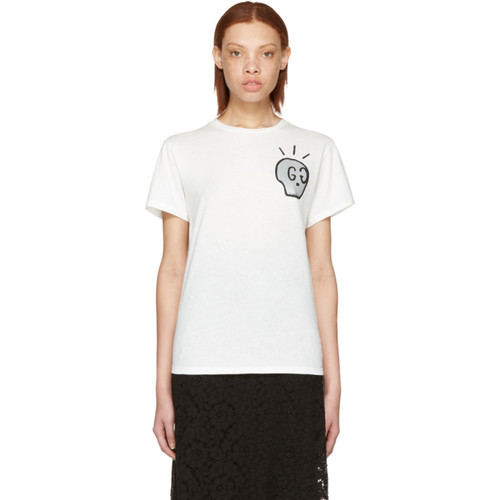 GUCCI White 'Life Is ' T-Shirt