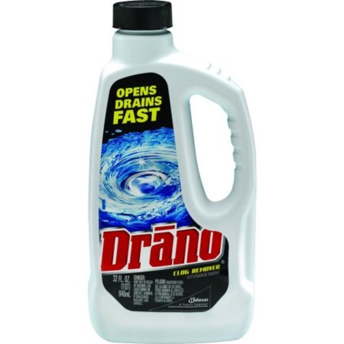 Drano DRACB001169 Liquid Drain Cleaner 32 oz. Safety Cap Bottle 12 Count, N/A