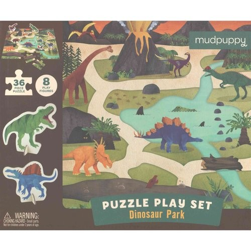 Dinosaur Park Puzzle Play Set