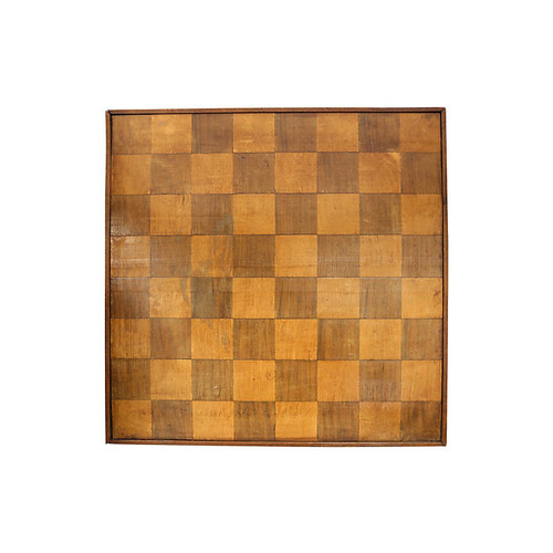 Antique Inlaid Wood Dual Side Game Board