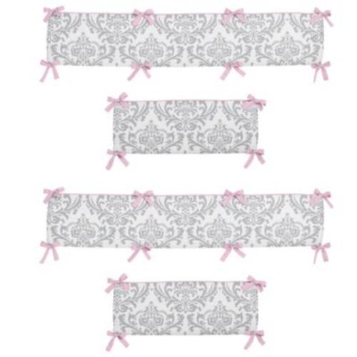 Sweet Jojo Designs Elizabeth Crib Bumper in Pink/Grey