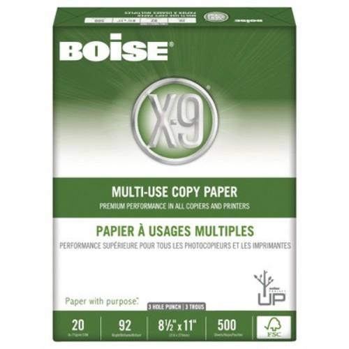Boise OX9001P X-9 Multi-Use 3-Hole Copy Paper, 92 Bright, 20lb, 8-1/2 x 11, White (Case of 5000 Sheets)