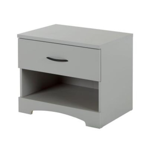 South Shore Step One 1-Drawer Soft Gray Nightstand