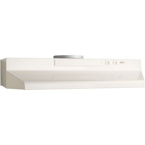 Broan Monochromatic Biscuit 30-inch Two-speed 4-way Convertible Under-cabinet Range Hood