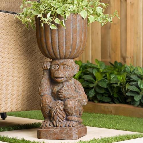 Bombay Outdoors Mumbai Monkey Urn Planter - Indoor / Outdoor
