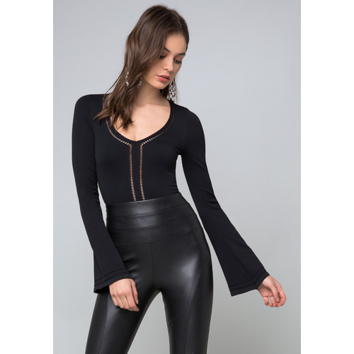 Long Sleeve V-Neck Bodysuit