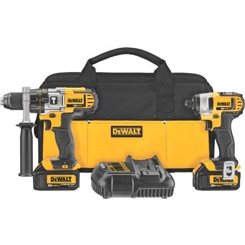 DEWALT DCK290L2 20-Volt MAX Li-Ion 3.0 Ah Hammer Drill and Impact Driver Combo Kit [Combo kit]