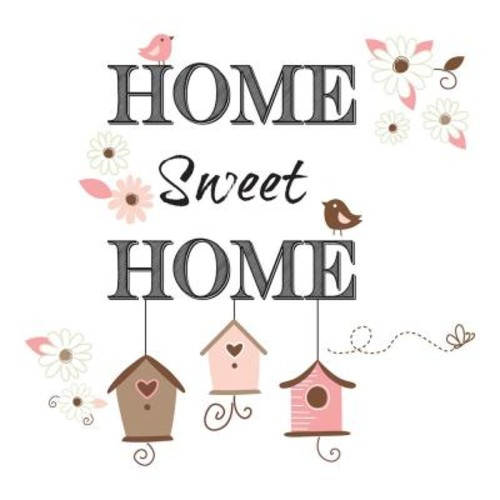 Brewster 19.7 in. x 12.2 in. Home Sweet Home Wall Decal