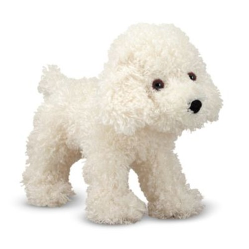 Melissa & Doug Fluffy Bichon Frise Puppy Dog Stuffed Animal