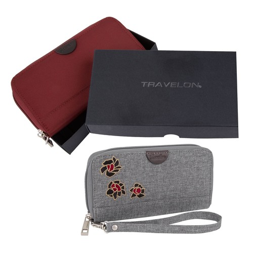Travelon Set of 2 RFID Wallets with Gift Boxes