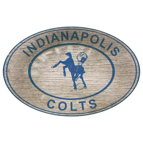 Indianapolis Colts Heritage Oval Wall Sign