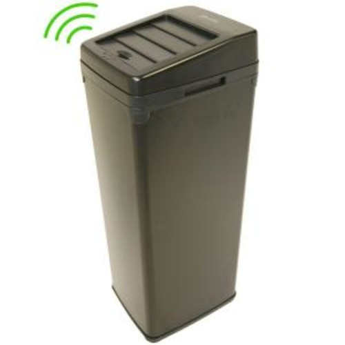 iTouchless 14 Gal. Black Motion Sensing Touchless Trash Can