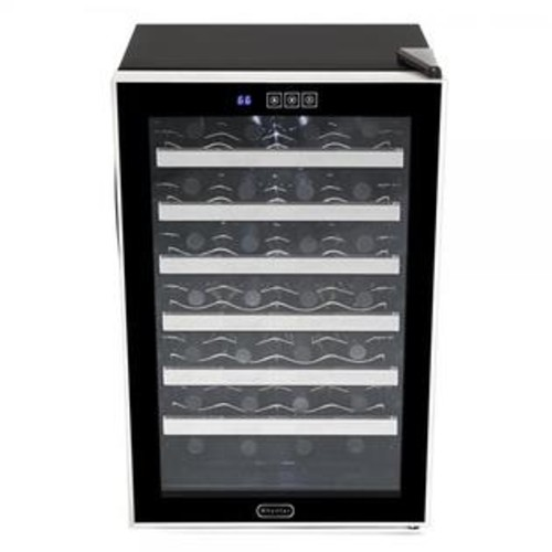 Whynter WC-282TS 28 Bottle Touch Control Freestanding Wine Cooler, Black with Stainless Steel Trim